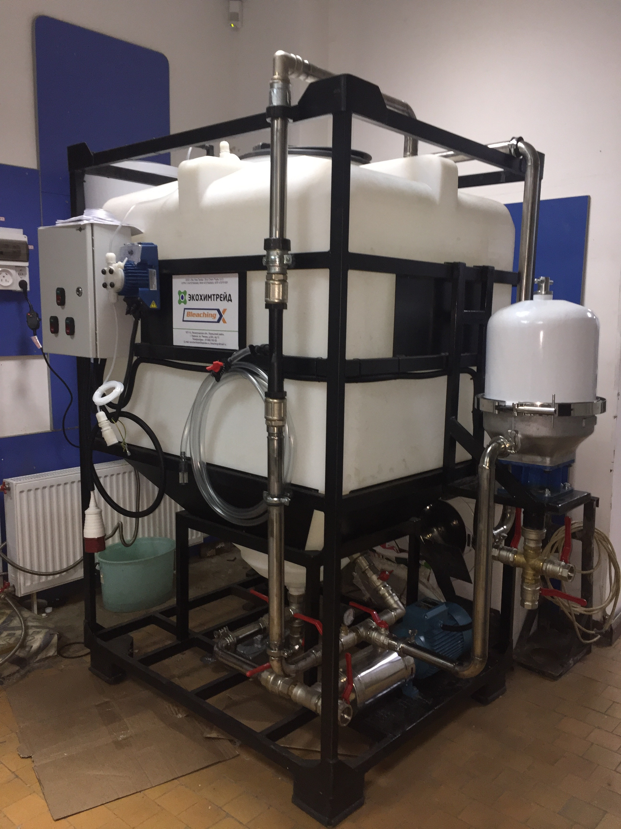 Оборудование для осветления темного печного топлива